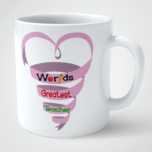 Personalised Worlds greatest teacher mug gift