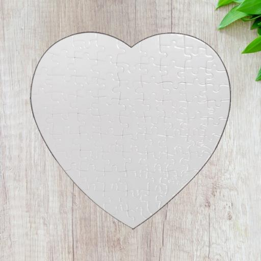 Personalised Heart Shaped Photo Jigsaw Puzzle