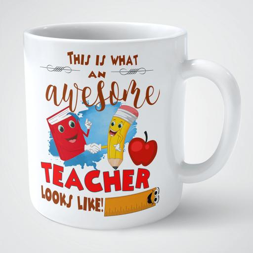 This is what an awesome teacher looks like personalised mug.png