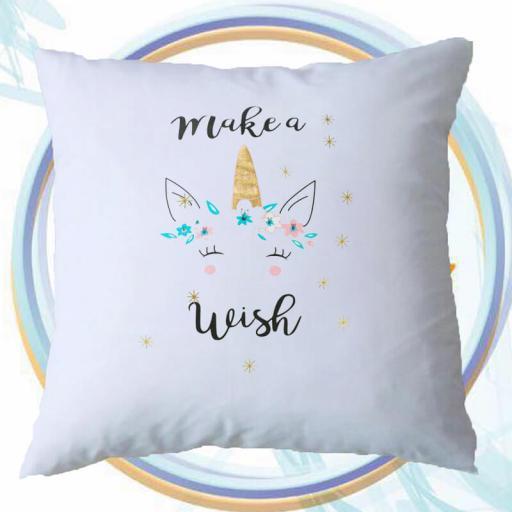 Make A Wish Personalised Unicorn Inspired Cushion.jpg