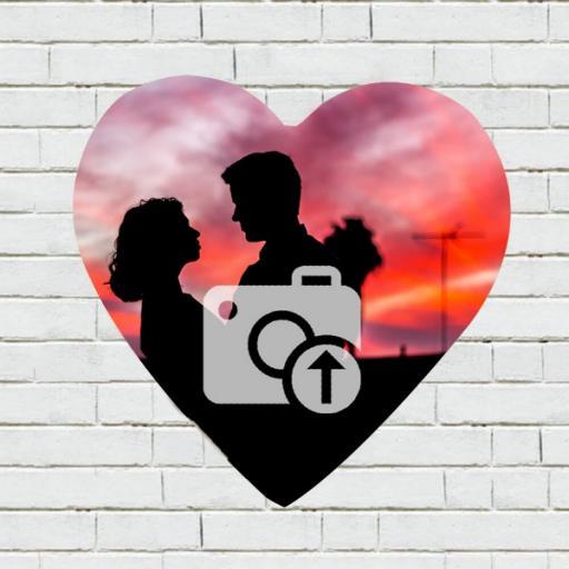 Personalised Heart Shaped Photo & Text Keyring