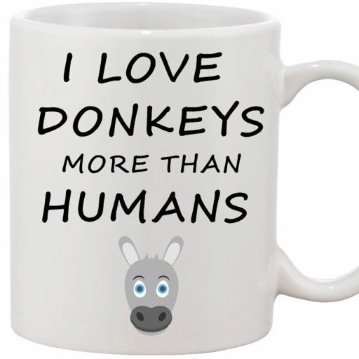 Personalised Funny 'I Love Donkeys More Than Humans' Funny Text Mug.jpg