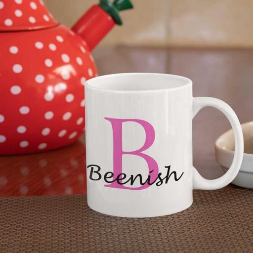 Personalised Name Mug For Her - Initial B & Name