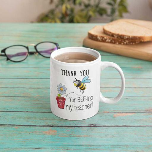 Personalised 'Thank You for Being My Teacher' Mug - Add Name/Message