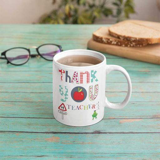 Personalised Thank you Teacher Mug - Add Name/Text