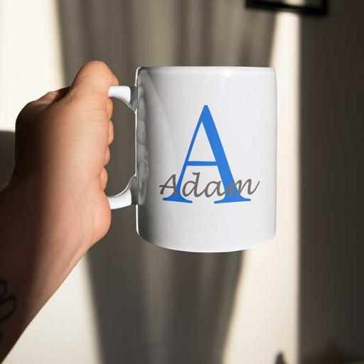 Personalised Name Mug For Him - Initial A & Name