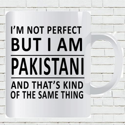 Personalised 'I am Not Perfect But I am Pakistani' Mug