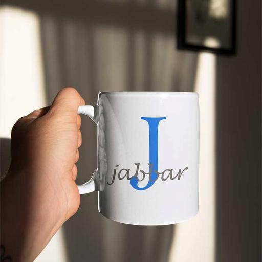 Personalised Name Mug For Him - Initial J & Name