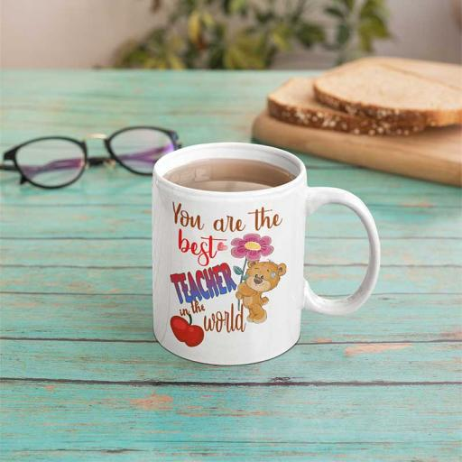 Personalised 'You are the Best Teacher in the World' Mug - Add Name/Text