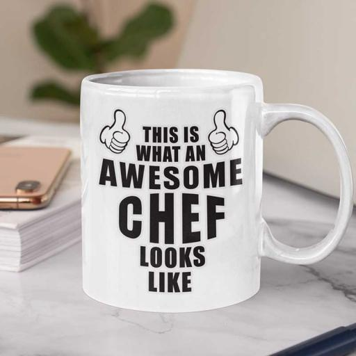 Personalised 'This is What an Awesome Chef Looks Like' Funny Text Mug