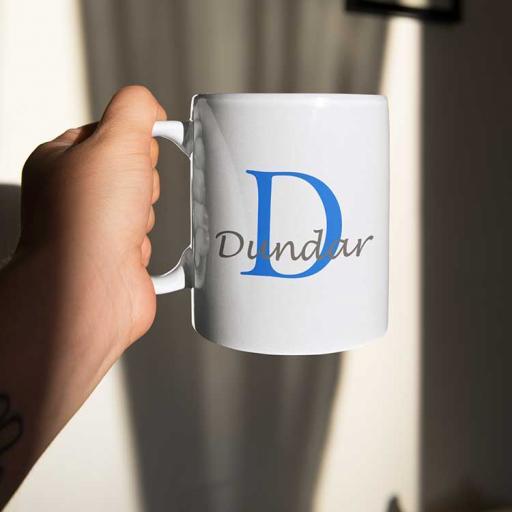 Personalised Name Mug For Him - Initial D & Name