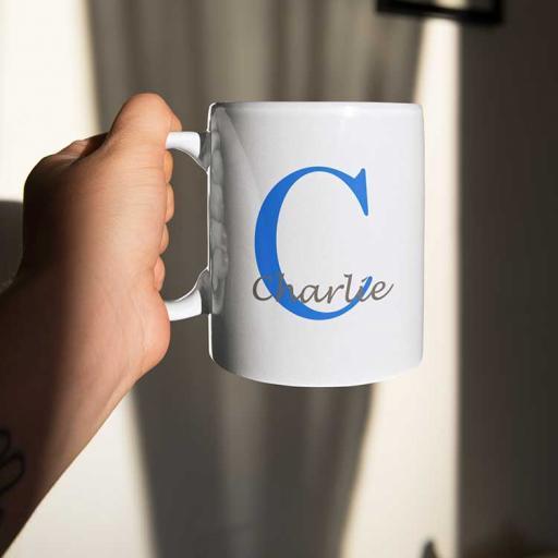 Personalised Name Mug For Him - Initial C & Name