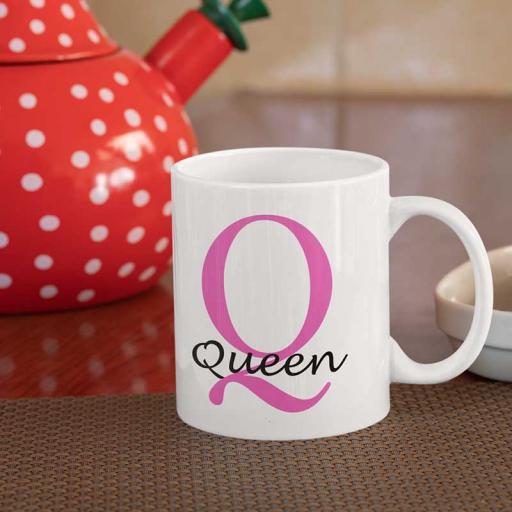 Personalised Name Mug For Her - Initial Q & Name