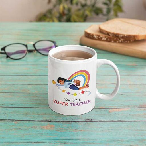 Personalised You're a Super Teacher Mug - Add Name/Text