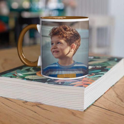 Personalised Coloured Inside Mug with Your Image and Text