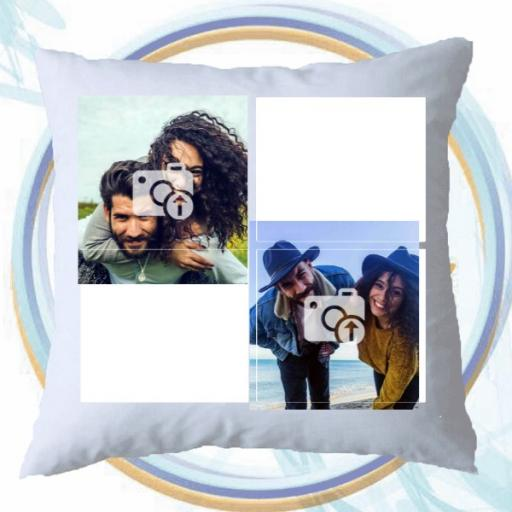 Best Mum Ever Gift - 3 Photos Collage Cushion - Add Text