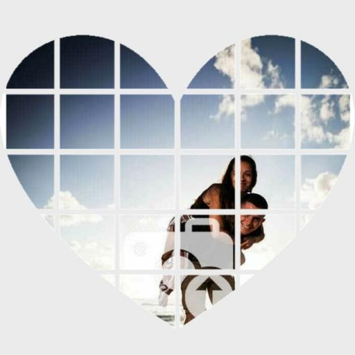 Heart Wall Art - Personalise with 3 Photos