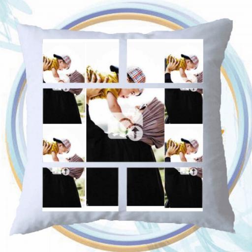 Personalised Multi Photo Collage Cushion - 5 Photo Collage