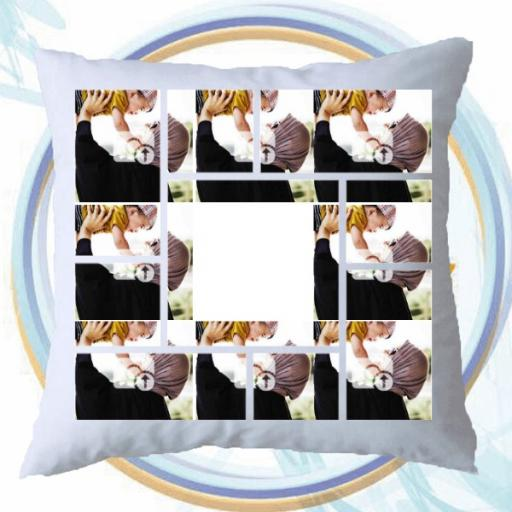 Personalised Multi Photo Collage Cushion - 9 Photos Collage