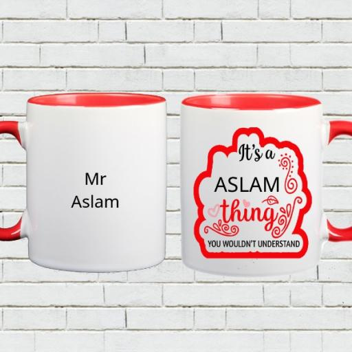 It's a (Your Name) Thing, You Wouldn't Understand - Personalised Colour Inside Mug