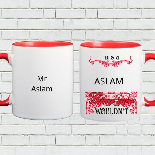 Personalised 'It's a (Your Name) Thing, You Wouldn't Understand' Colour Inside Mug
