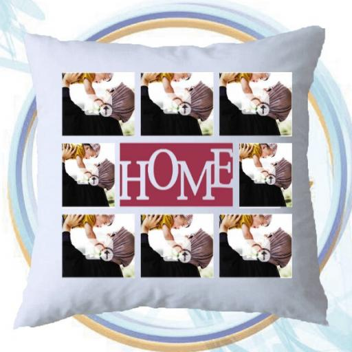 Multi Photo Collage Personalised (HOME) Cushion