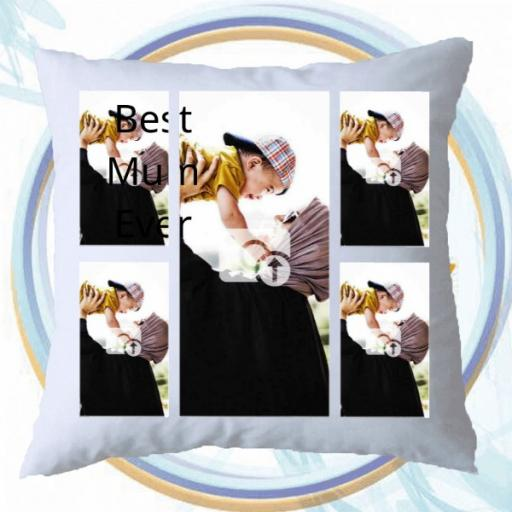 4 Photos Cushion Gift with Option to Add Text