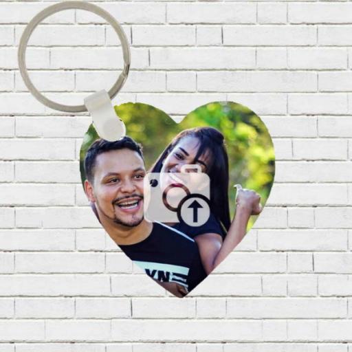 Personalised Heart Shaped Photo Keyring