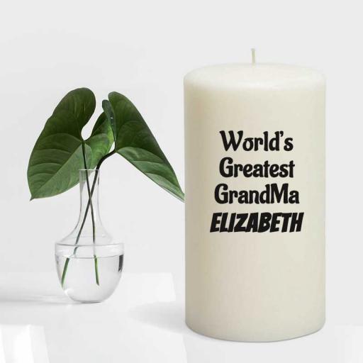 World's Greatest GrandMa - Personalised Candle