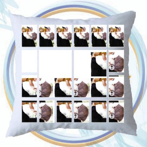 Personalised Multi Photo Collage Cushion - 18 Photos Collage