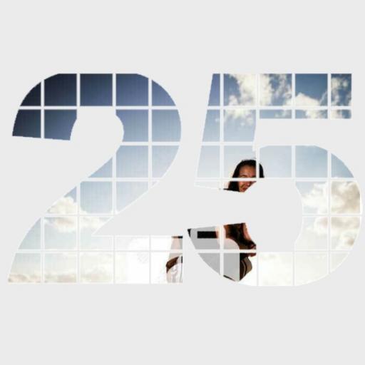 Personalised Photo Wall Art - 25 Years