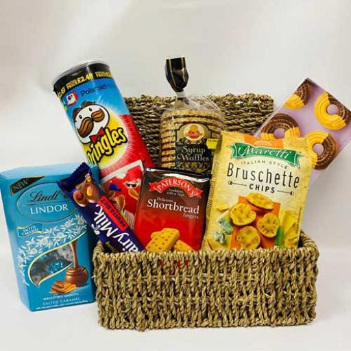 Savoury & Sweets Hamper - with Personalised Card