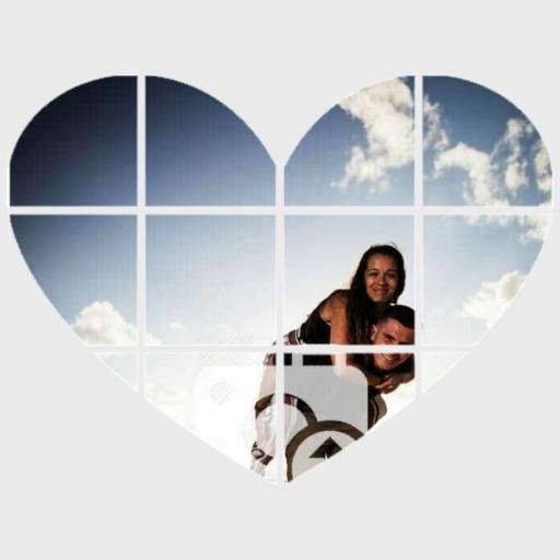 Personalised Photo Wall Art - Heart