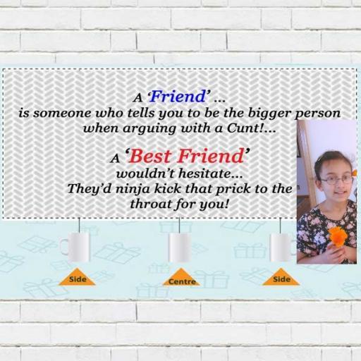 2 Photos Upload Best Friends Mug
