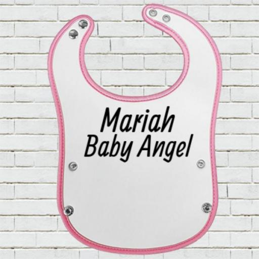 Pink Pocket Baby Bib - Personalise with Name/Text