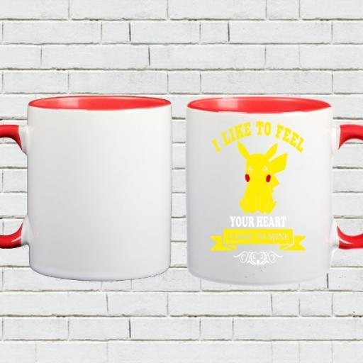 'Your Heart Close To Mine' - Colour Inside Mug Gift