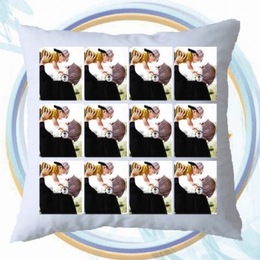 Multi Photo Personalised Collage Cushion - 15 Photos Collage