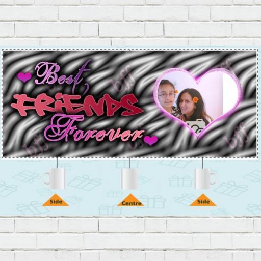 Best Friend Forever Photo Upload Mug