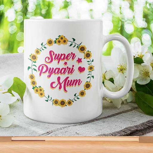 'Super Pyaari Mum' - Personalised Mug for Mum