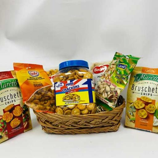 Healthy Snacks Hamper - with Personalised Card