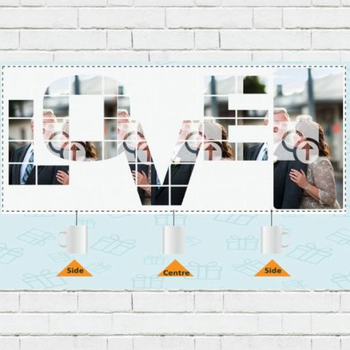 Personalised LOVE Photo Upload Mug - Add Photo & Text