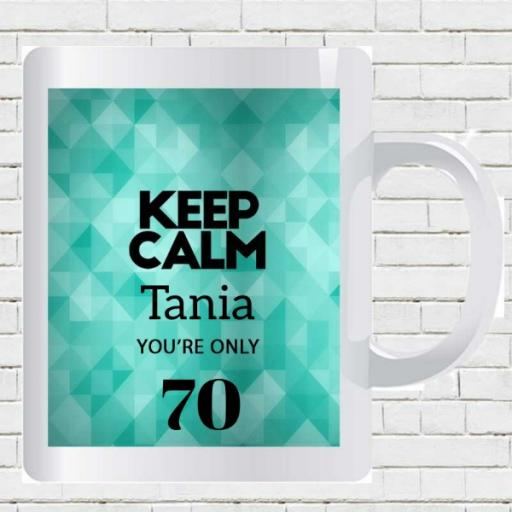 Keep Calm You are Only (AGE) - Personalised Birthday Mug - Zion Geo