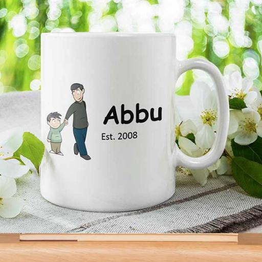 Father/Dad/Abbu Desi Style Personalised Mug - Gift for Father - Add Name