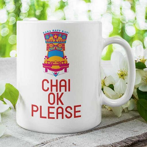 'Chai OK Please' Funny Desi Personalised Mug