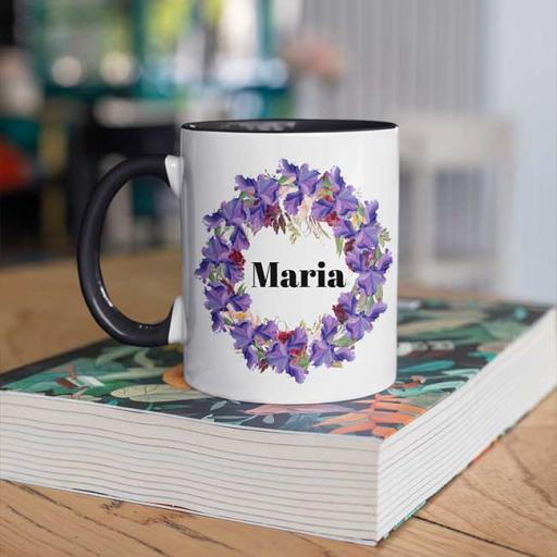 Black-Colour-inside-Flower-Wreath-Design-Personalised-Name-Inside-Circle-Mug.jpg