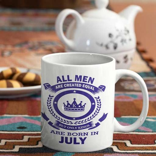 All Men are Created Equal But Only Kings are Born in July - Birthday Mug