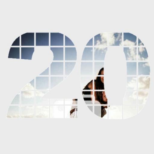 Personalised Photo Wall Art - 20 Years