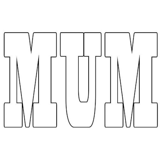 Personalised 'MUM' Photo Word Art