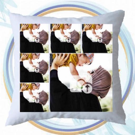 6 Photos Collage Cushion Gift - Personalised Photo Cushion