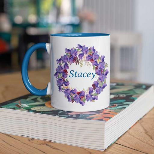 Blue-Colour-inside-Flower-Wreath-Design-Personalised-Name-Inside-Circle-Mug.jpg